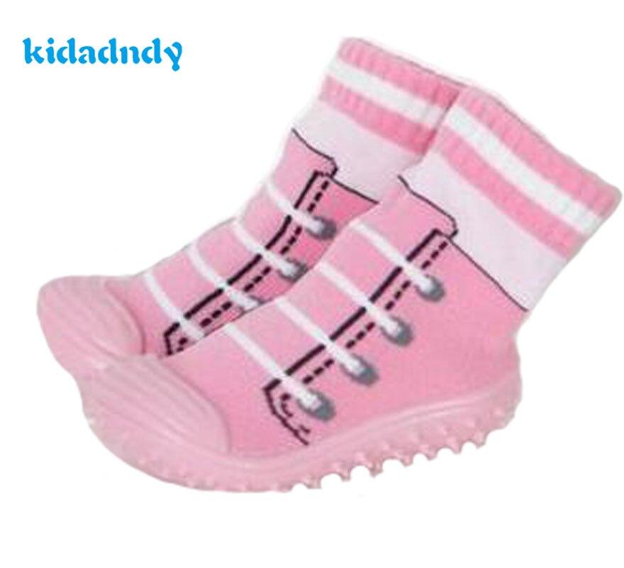 kidadndy font b Baby b font Socks Soft Bottom Non Slip Floor Rubber Soles Kids Boots