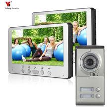 "Yobang אבטחה Freeship 7 ""טלפון צבע דלת וידאו עבור וילה בית צג מצלמה גישה למערכת אינטרקום וידאו דירה עבור 2"