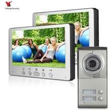 """Yobang videoportero de 7 """"con cámara de Monitor de acceso para 2 casas, vídeo en Color para casa"""