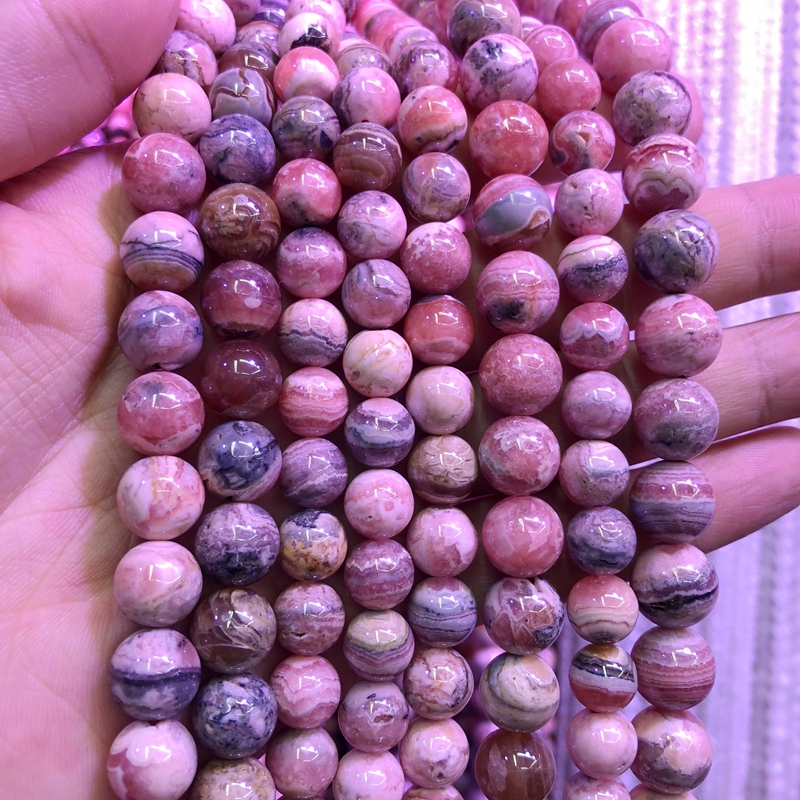 100% Natural Rhodochrosite beads,Natural Argentina Rhodonite Stone Loose beads Supplies 6mm 8mm 10mm 12mm 1strand natural 100