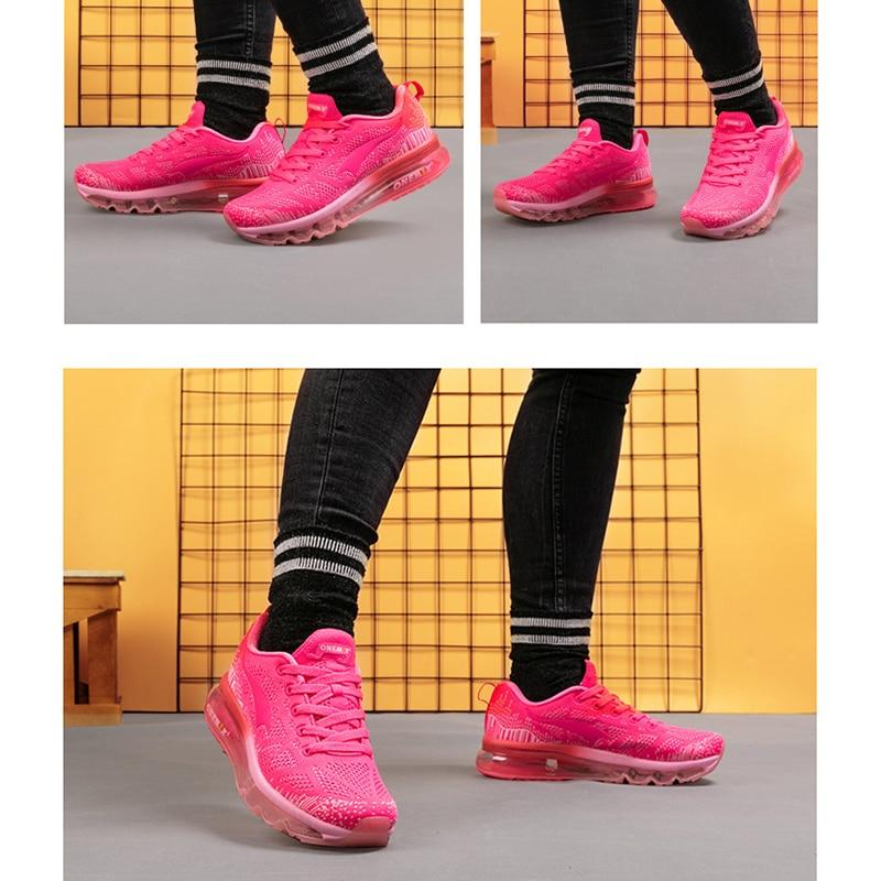 Купить с кэшбэком ONEMIX Men's Running Shoes Music Rhythm Summer Breathable Mesh Outdoor Women Sports Shoes Casual Mens Athletic Walking Sneakers