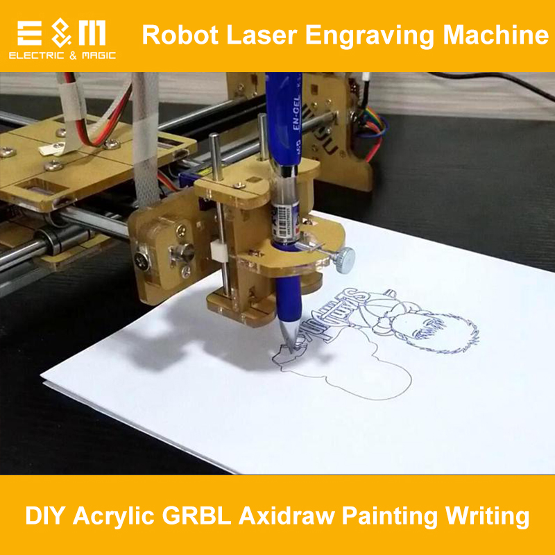 FAI DA TE Disegno Robo Axidraw Pittura Scrittura Robot Laser Macchina Per Incidere di Aedraw Smontato Parti con L'assemblea di Scrittura Tutorial