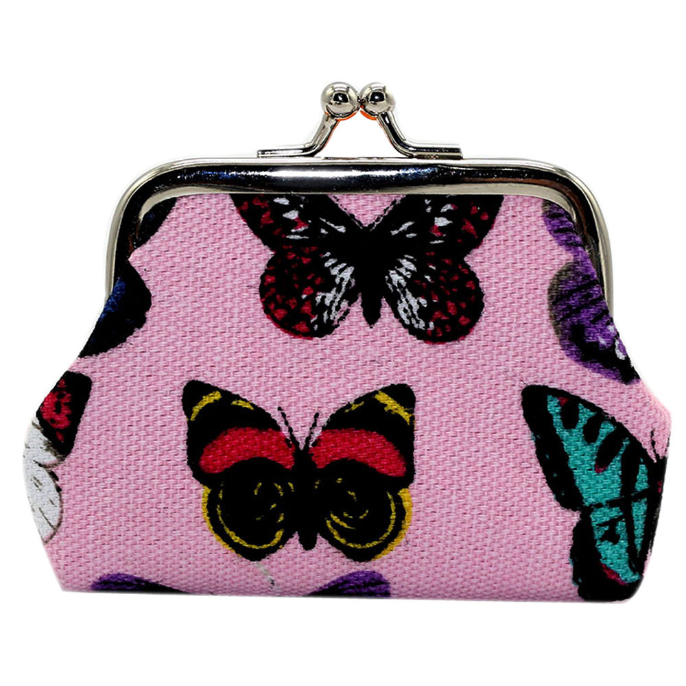 Butterfly Wallet Coin Purse Canvas Zipper Credit Card Pouch Wallet For Birthday