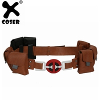 XCOSER Deadpool Cosplay Deadpool Belt Accessory Brown & Black Belt Deadpool Halloween Cosplay Costume Prop For Men Adult