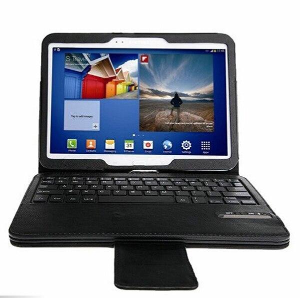 Amovible Sans Fil Bluetooth 3.0 Clavier Détachable En Cuir Stand Housse Pour Samsung Galaxy Tab 4 10.1 T530 T531 T535 10.1