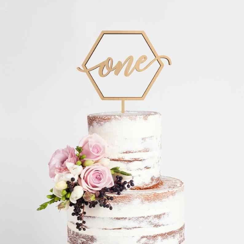 Marvelous One Cake Topper Baby 1St Birthday Cake Topper Hexagon First Birthday Cards Printable Nowaargucafe Filternl