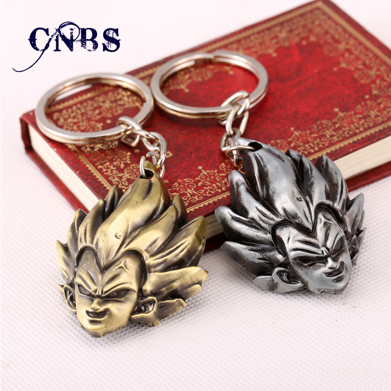 Dragon Ball Vegeta Keychain can Drop-shipping Metal Key Rings For Gift Chaveiro Key chain Jewelry for cars YS10865