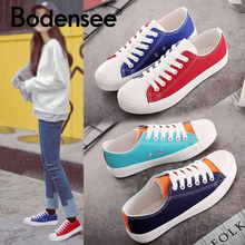 BODENSEE Women Sneaker Casual Shoes Female Summer Canvas
