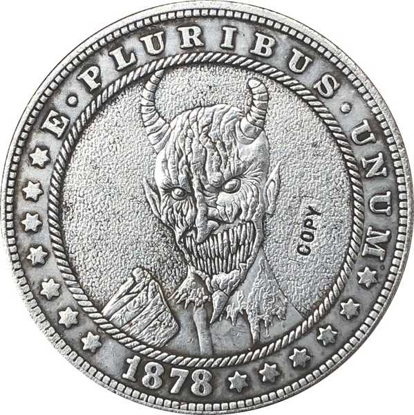 Hobo Nikkel 1878-CC VS Morgan Dollar MUNT COPY Type 136