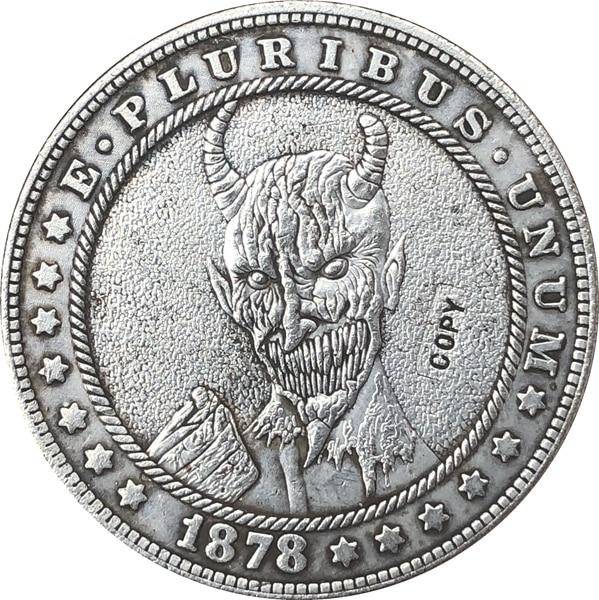 Хобо никель 1878-CC сша Морган доллар Монета КОПИЯ Тип 136