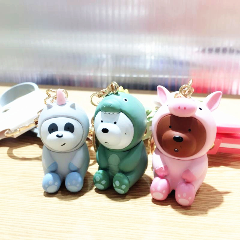 2018 New High Quality We Bare Bears Keychain Pvc 3D -8718