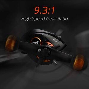 Image 3 - KastKing carrete de Baitcasting Speed Demon Pro, carrete de pesca de fibra de carbono de alta velocidad, 9,3: 1, 12 + 1BBs, freno magnético