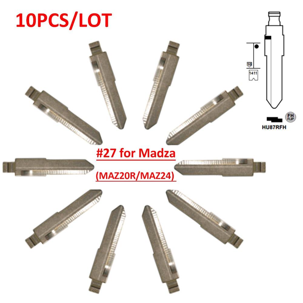 Free shipping (10 pcs/lot)Metal Blank Uncut Flip KD Remote Key Blade Type #27 for MazdaFree shipping (10 pcs/lot)Metal Blank Uncut Flip KD Remote Key Blade Type #27 for Mazda