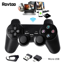Rovtop 2,4G беспроводной геймпад пк для PS3 tv Box джойстик 2,4G джойстик игровой контроллер пульт дистанционного управления для Xiaomi Android