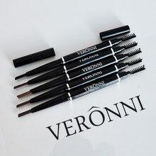 VERONNI Waterproof Long Lasting Eyebrow Pencil Both Head Drawing Eye brown Cosmetics DHL 60pcs/lot Makeup