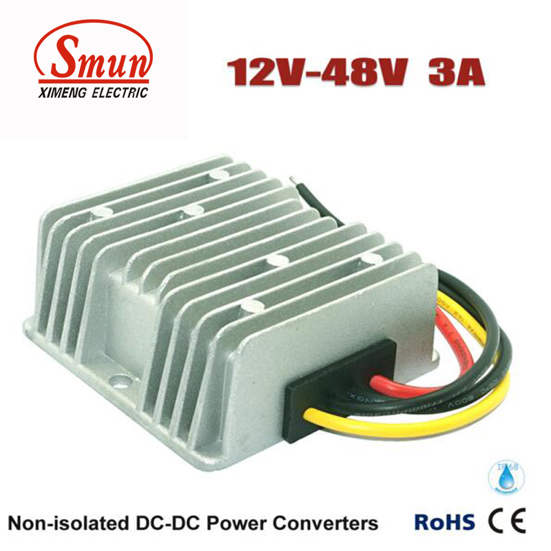 Boost Module 12V to 48V 3A 144W DC DC Converter Car Power Supply With CE RoHS rs232 to rs485 converter with optical isolation passive interface protection