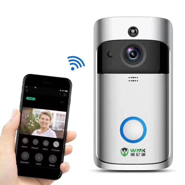 WNK 1MP Wireless Wifi Video Door Phone Doorbell Intercom HD 720P 2 way Audio 166 wide angle lens PIR motion detection doorphone
