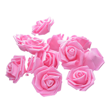 MINI Foam Roses for Home Wedding Fake Flower Decora Scrapbooking Diy Wreath Gift Box Cheap Artificial Bouquet 50 Pcs 7cm