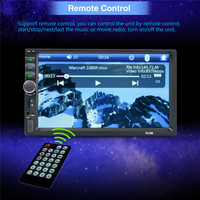 2 Din 7 Inch LCD Touch Screen Car Radio Player Multiple Languages Menu BLUETOOTH Hands Free
