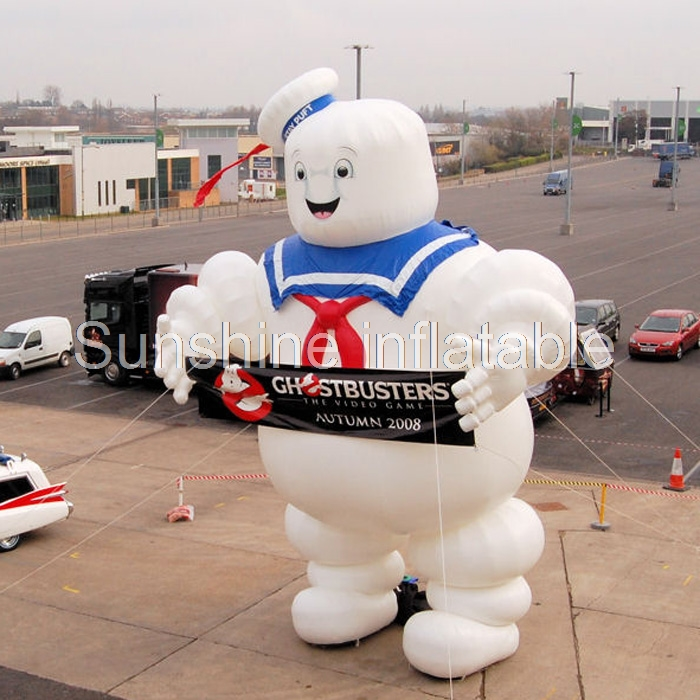Hot sale 4m high halloweeen Ghostbusters Stay Puft Inflatable Marshmallow Man For Advert ...