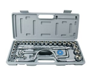 32 pc Spanner Socket Set 1/2 1/4 3/8 Car motor Repair Tool Ratchet Wrench Set Cr-v hand tools Combination Bit Set Tool Kit mainpoint 1 4 1 2 3 8 e socket sockets set cr v torx star bit combination drive socket nuts set for auto car repair hand tool
