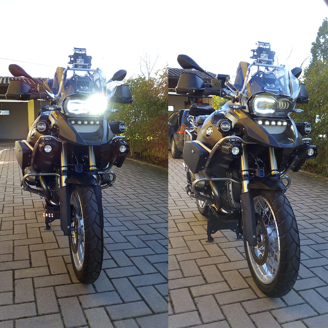 For BMW R1200GS 2008 2009 2010 2011 Protective cover Led Headlight Assembly New Motorcycle Light Lightings DRL Original Complete