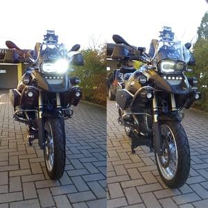 Image 5 - Led ヘッドライトアセンブリ新オートバイライト照明 DRL ミニタッチデジタイザースクリーン BMW R1200GS 2008 2009 2010 2011 保護カバー