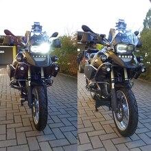 Per BMW R1200GS 2008 2009 2010 2011 coperchio di Protezione Ha Condotto il Faro di Assemblaggio Nuovo Luce Del Motociclo Illuminazione DRL Originale Completo