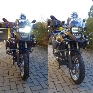 Image 1 - Voor BMW R1200GS 2008 2009 2010 2011 beschermhoes Led Koplamp Montage Nieuwe Motorfiets Licht Verlichting DRL Originele Compleet