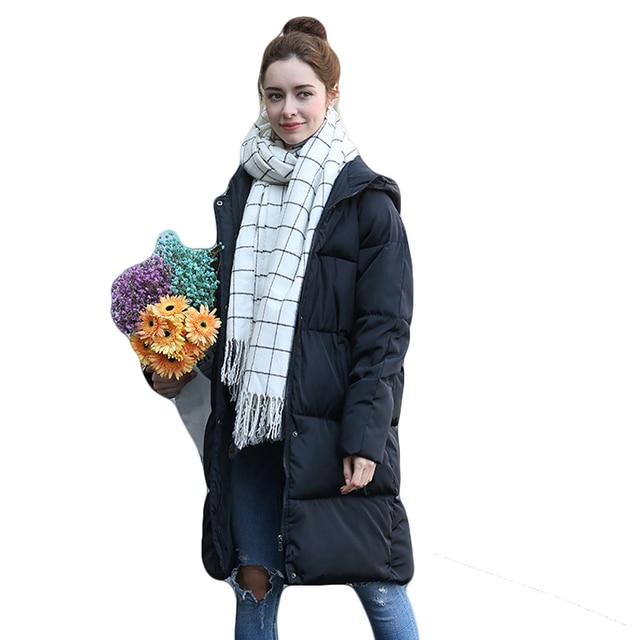 2018 المرأة الشتاء سترة أزياء المرأة معطف سترة عالية الجودة أنثى مقنع الخبز سترة المتضخم الدافئة محشو أبلى CM1037