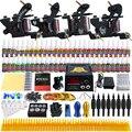 Kits de Tatuaje Solong 4 Pro Ametralladoras Para Shader Espiral Hecha A Mano y Linner fuente de Alimentación Foot Pedal Extremidad del Apretón de la Tinta Set TKD02