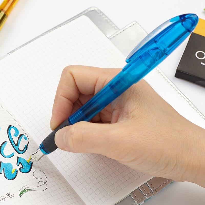 Monami Olika Colorful Transparent Fountain Pen Extra Fine Nib EF//0.38mm Writing