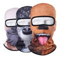 3D Animal Face Mask Sports Bicycle Balaclava Cycling Motorcycle Ski Fishing Hats Outdoor Winter Halloween Full Face Mask Dog