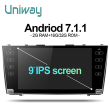 AKMR9071 uniway android 7.1 dvd del coche para toyota camry 2007 2008 2009 radio de coche reproductor multimedia de navegación gps