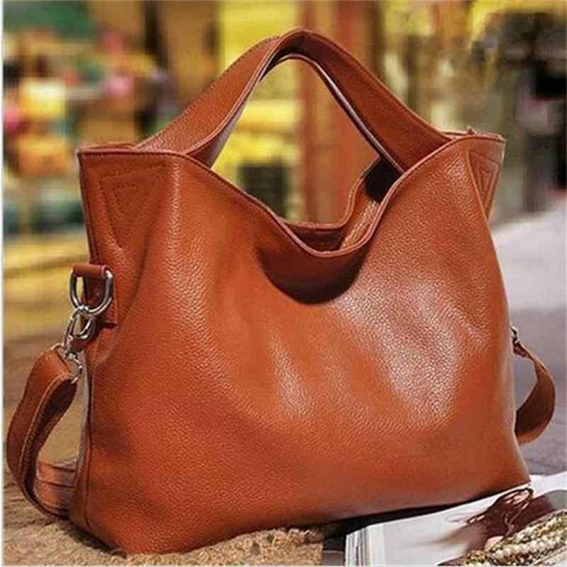 Подробнее Обратная связь Вопросы о Распродажа! Повседневная женская кожаная  сумка через плечо, большие женские сумки на плечо, роскошные женские сумки  ... 4245caf3c0e