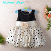 2013 New Girl Princess Dress Black Dot And Color Beige Pink Party Dress Baby Clothes Free