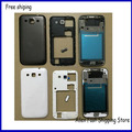 Original For Samsung Galaxy Win i8552 Housing Cover Battery Door +Button +Camera Glass Lens, Black /White ,Free Shipping