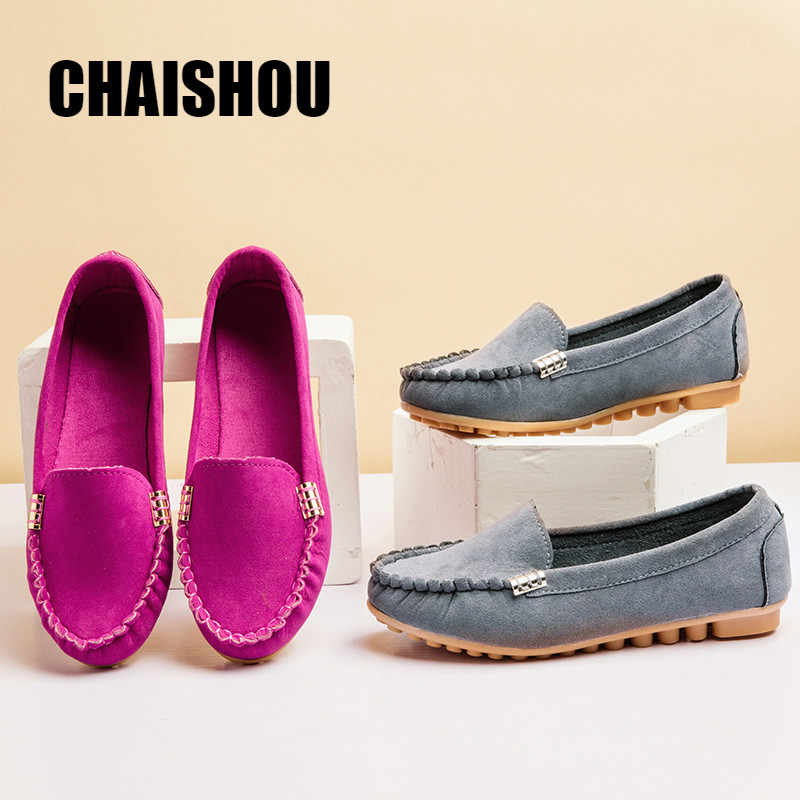 Femmes chaussures plates 2019 mocassins couleur sans lacet chaussures plates ballerines confortables dames chaussure grande taille 35-40 zapatos mujer C501
