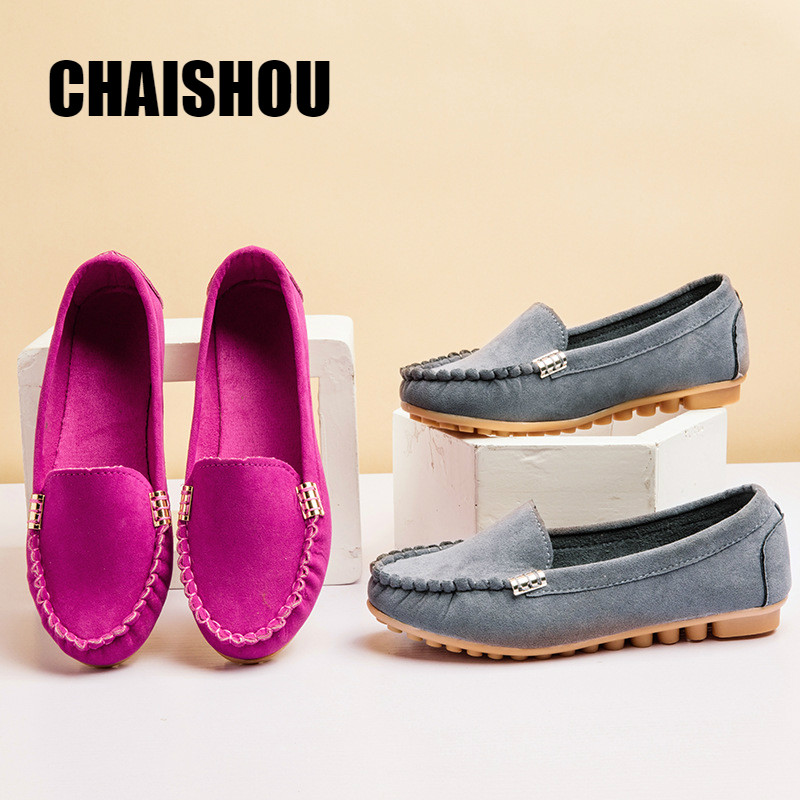 Women Flats Shoes 2019 Loafers Color Slip On Flat Shoes Ballet Flats Comfortable Ladies Shoe Plus Size 35-40 Zapatos Mujer C501