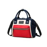 Blasting shoulder bag women's bag Korean fashion color bumper clip multi function carrying bag travel