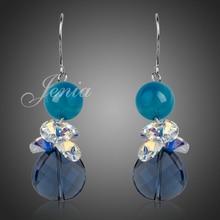 Garantizado 100% de Oro de Color de diamantes de Imitación de Vestuario Jewelrys Aretes de Circonio Cúbico Para Las Mujeres (XE017)