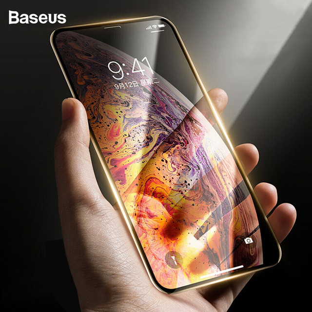 sale retailer 4cdb0 67293 US $9.22 |Baseus Screen Protector Tempered Glass For iPhone XS Max Xr Xsmax  0.3mm Full Cover Toughened Protective Glass For iPhoneXs Max -in Phone ...