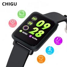 Chigu M28 Smart Watch IP68 Waterproof Men Sport Watch Heart Rate Blood Pressure Monitor Relogio Smartwatch for Android IOS Phone с добрым утром