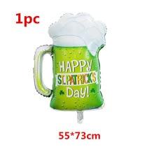 5pcs Green Clover Beer Cup Air Balloons