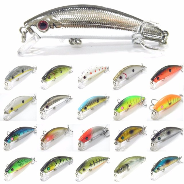wLure Fishing Lure Hard Bait Tight Wobble Slow Floating Jerkbait 7.1g 7cm 8# Black Nickel Hooks Tiny Minnow Crankbait M219
