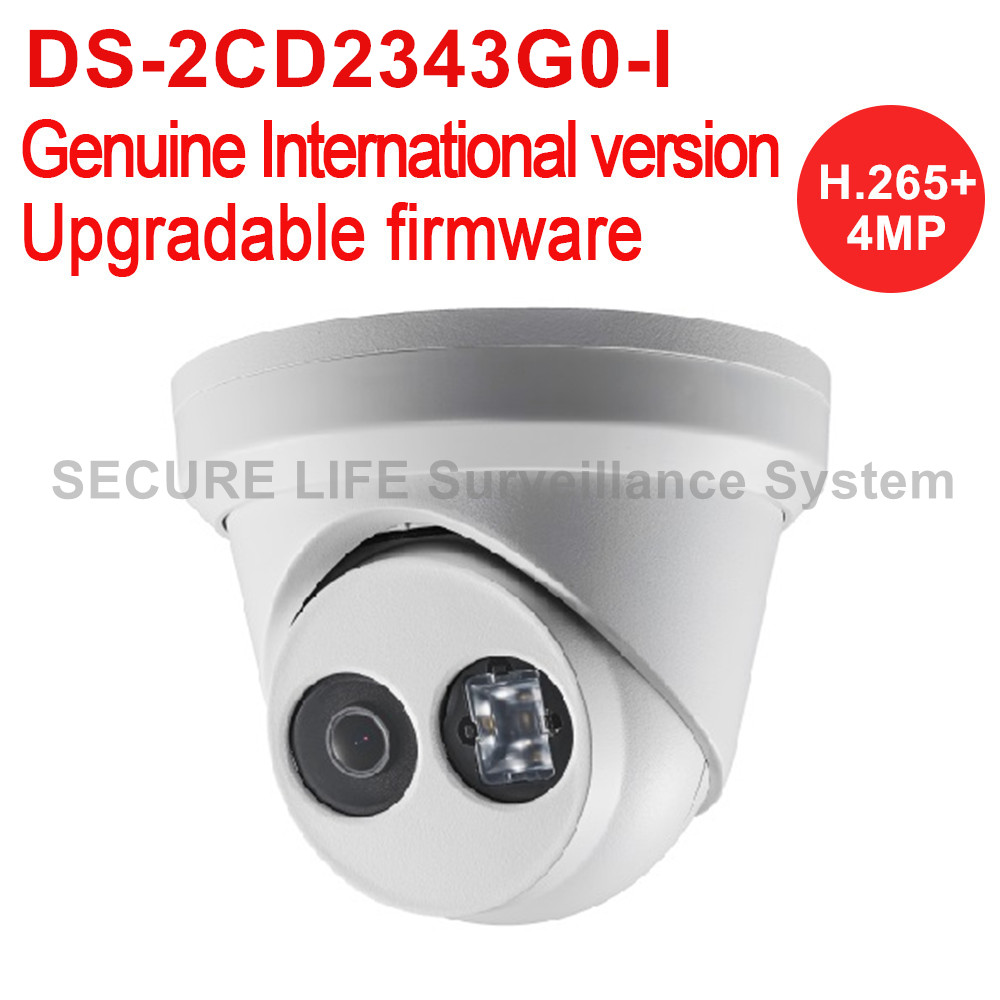 Hikvision DS-2CD2343G0-I English version 4MP IR metal turret Network IP CCTV Camera POE 30m IR H.265+ IK10 security camera h 265 ds 2cd3345 i hikvision ip camera poe 4mp ip cameras outdoor waterproof ip66 security network video surveilance camera cctv