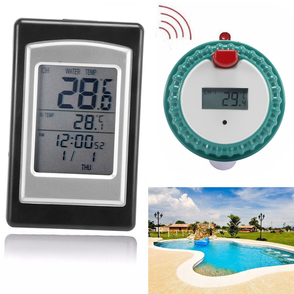 2019 fish tank pond aquarium thermometer wireless digital - Swimming pool water temperature gauge ...