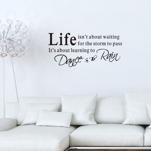 2016 Life Is Short Wall Sticker Quotes Diy Wall Stickers Words Removable Home Decor Wall Art