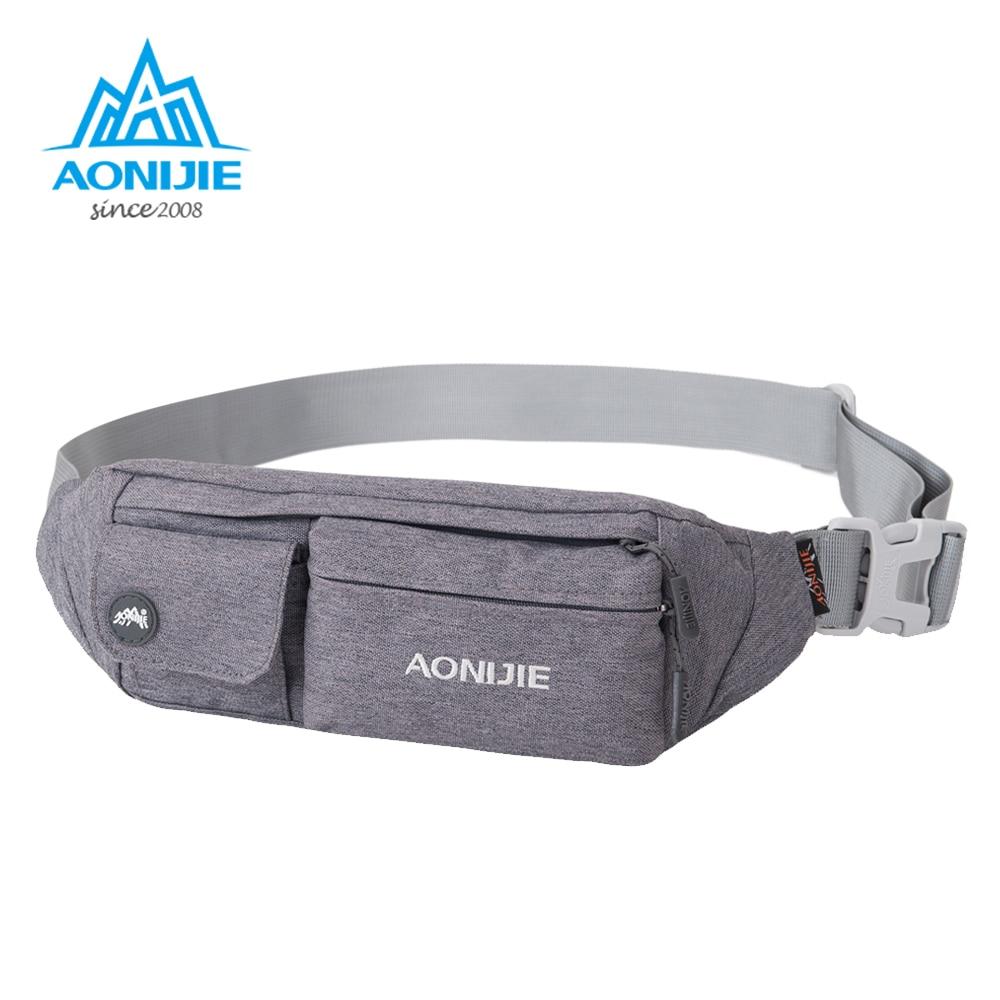 AONIJIE Outdoor Running Men Women Bag Sport Waist Pack Racing Hiking Camping Gym Fitness