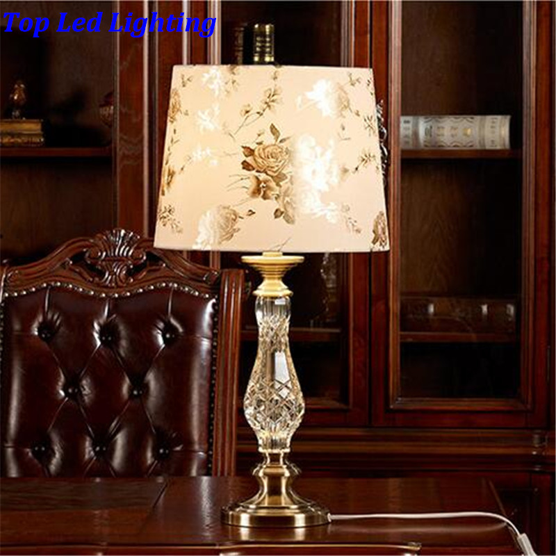 elegant luxurious pvc clear k9 crystal table lamp for wedding decor bedroom living room ac 80
